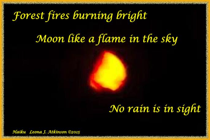 Fire Moon--Haiku