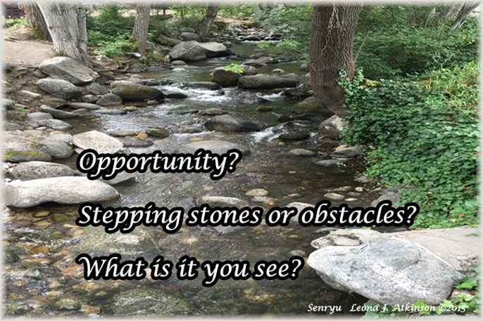 Creek with rocks in Ashland City Park, Senryu poem