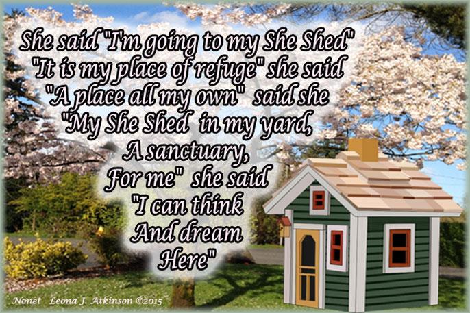 She Shed--Nonet poem