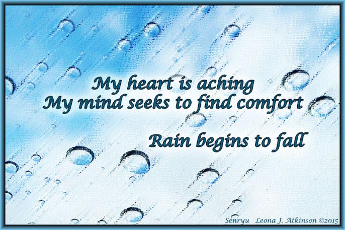 Raindrops--Senryu poem about sorrow