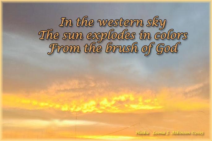 Sunset--Haiku