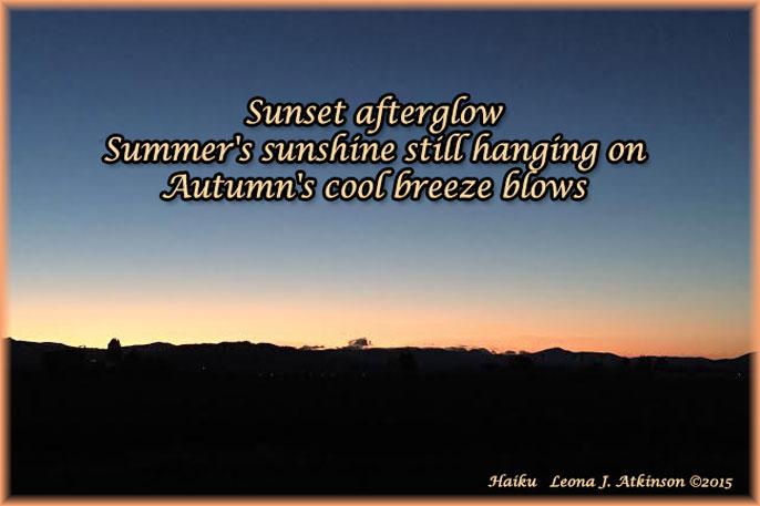Afterglow--Autumn Sunset--Haiku poem