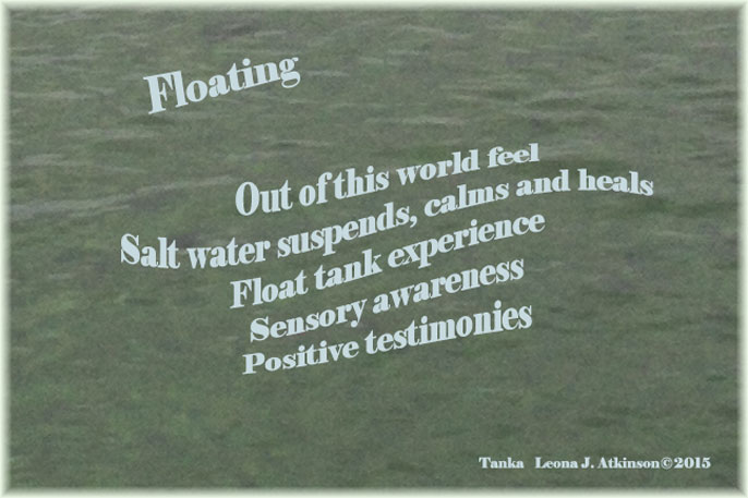Tanka poem about floating in a float tank