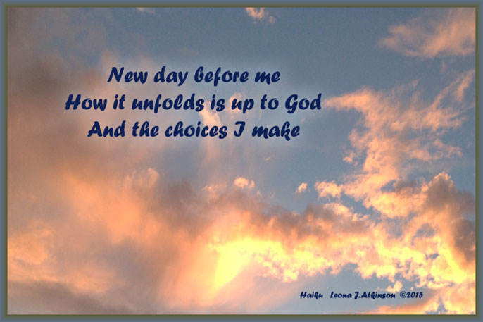 Sunrise photo--Haiku Haiga poem