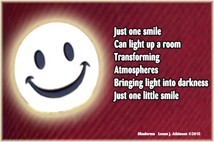 Shadorma poem about one little smile
