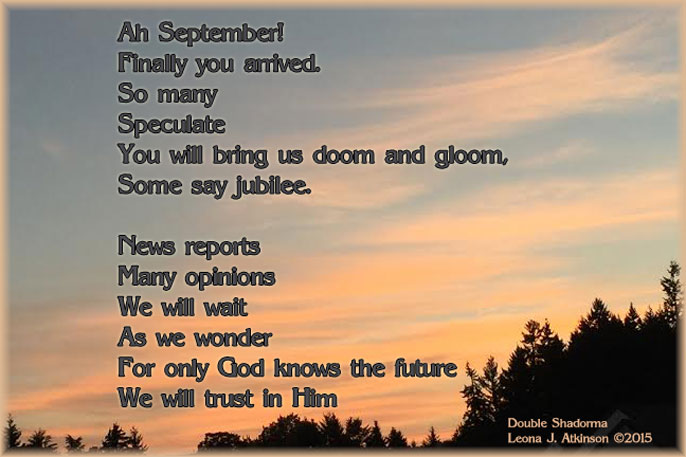 September 2015 Double Shadorma poem