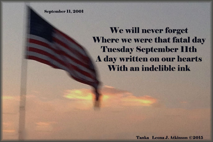 Unforgettable--Tanka poem about Sept.11th 2001