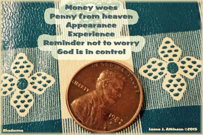 Shadorma poem about a penny and God's provision