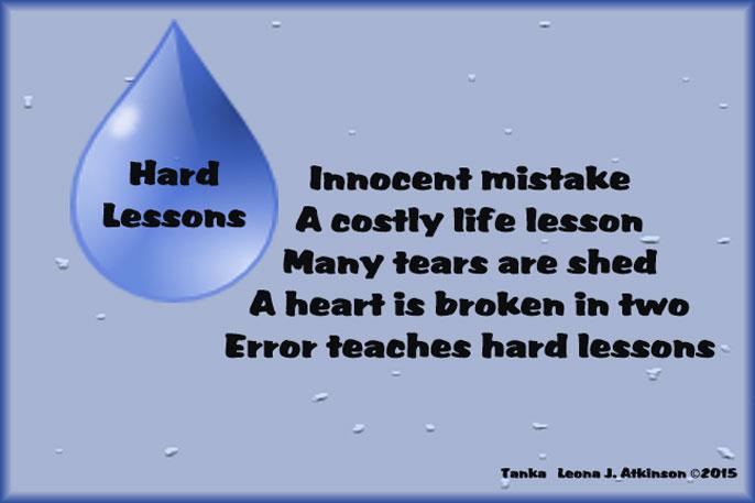Hard Lessons--Tanka poem