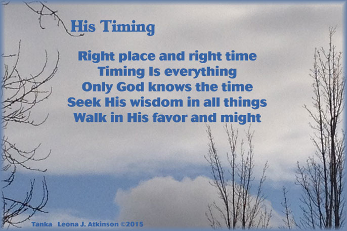 God's Timing Tanka poem