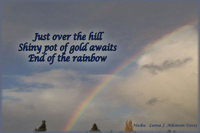 Rainbow Over the Hill--Haiku