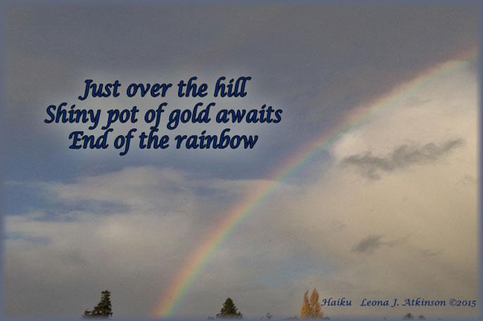 Rainbow Over the Hill--Haiku