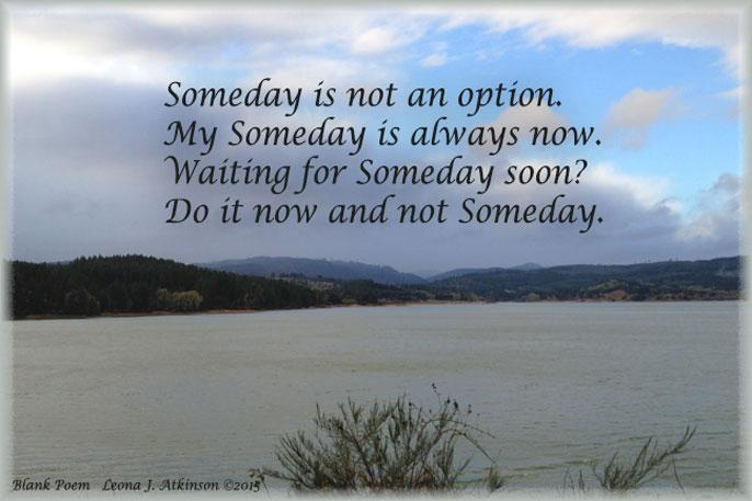Someday--Blank Poem