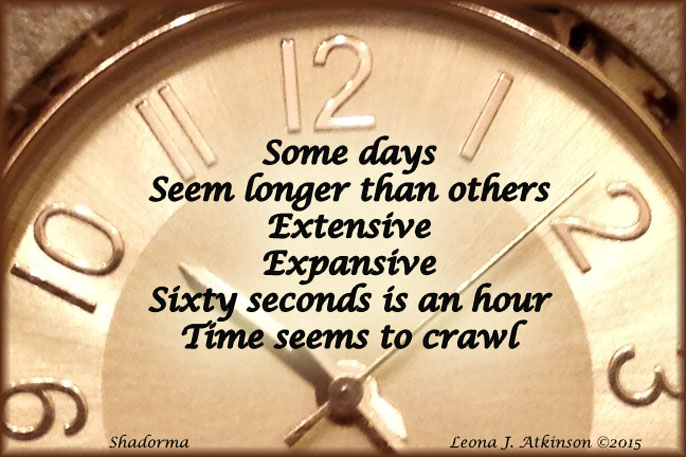clock, somedays, Shadorma poem
