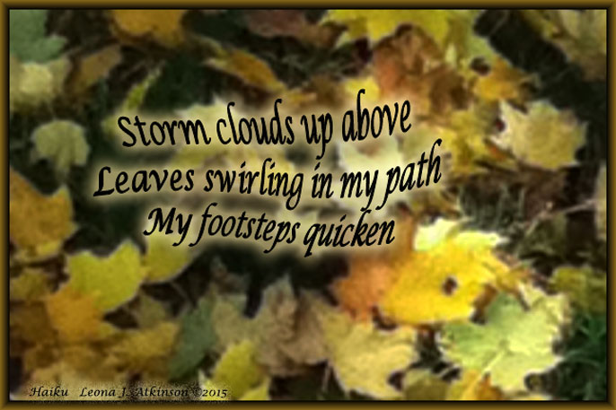 leaves-storm warning--Haiku