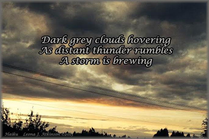 storm clouds--haiku
