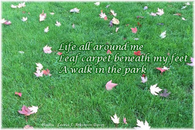 Grass--Leaves--Haiku