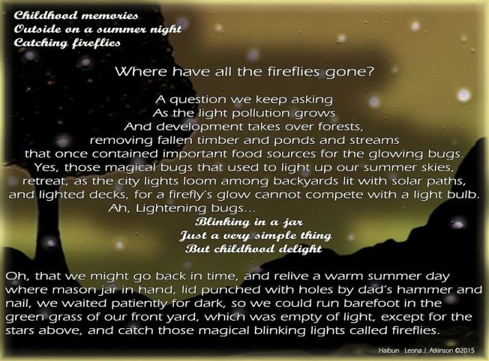 Fireflies--Haibun poem