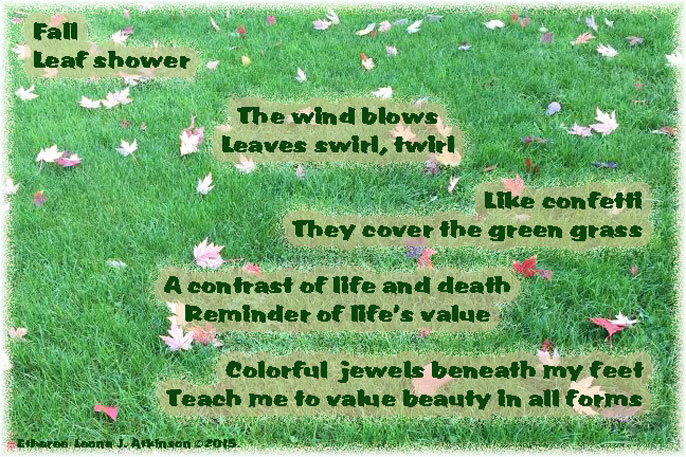 Leaf Shower--Etheree poem