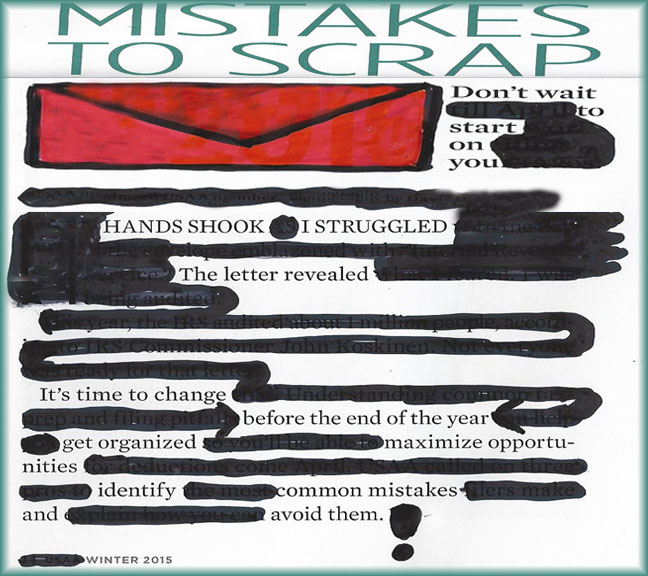 Blackout Poetry about Mistakes