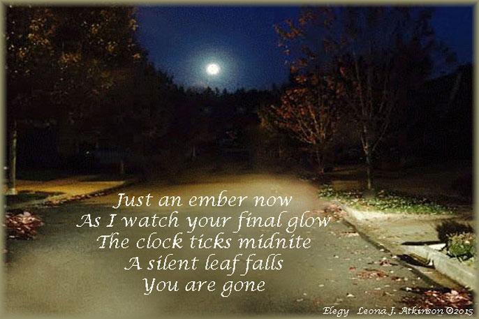November--Elegy poem