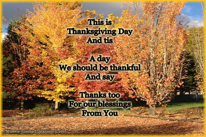 Thanksgiving--Musette poem