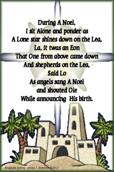 A Noel Anagram poetry
