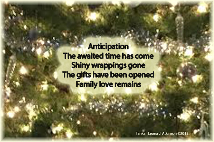 End of Christmas Day--Tanka