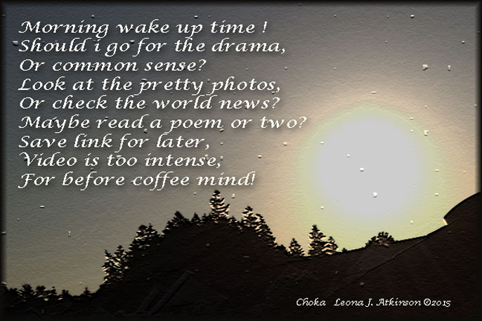 Good Morning poem--Choka--Sunrise