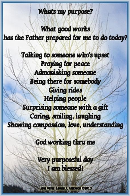 Purpose--Free Verse