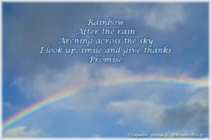 rainbow, promise, Cinquain poem