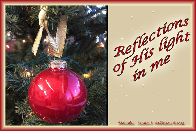 Christmas Ornament--Reflections-Light-Monoku poetry