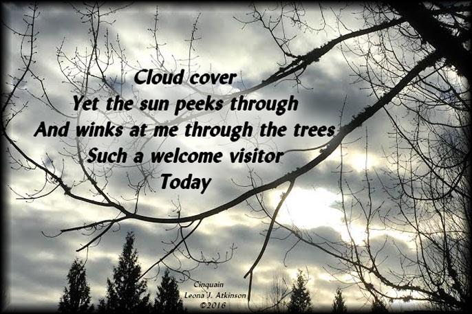 cloudy sky--sunshine-Cinquain poem