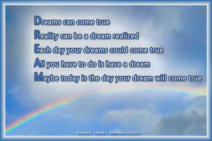 DREAM Acrostic