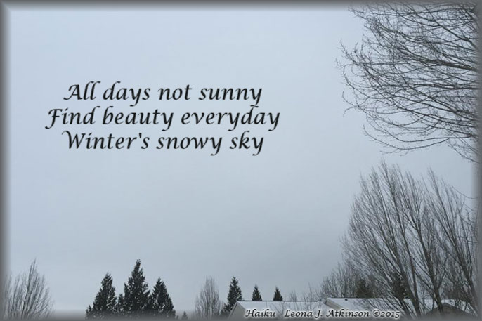 Winter Sky Picture--Haiku poem