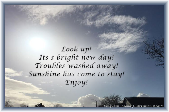 Sky-Clouds-Sunshine--New Day poem