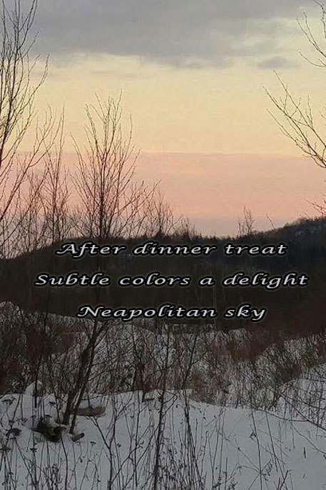Neapolitan Sky--Photo and Haiku