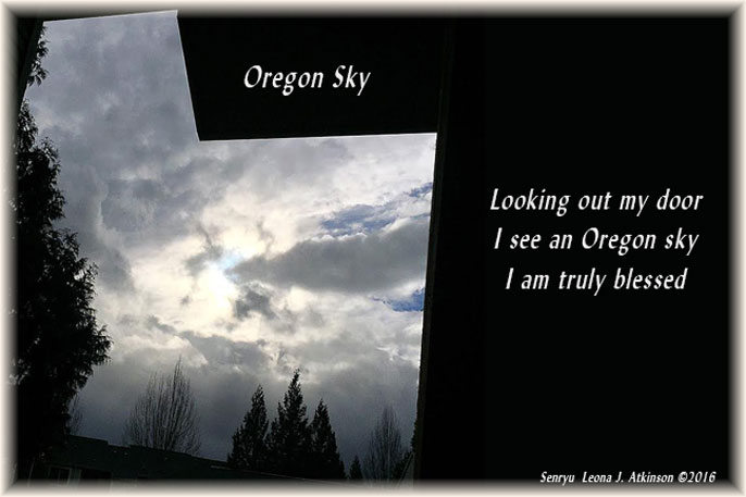 Oregon Sky--photo and Senryu poem