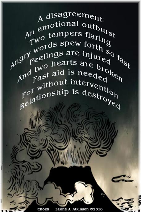 relationship disagreements Choka poem