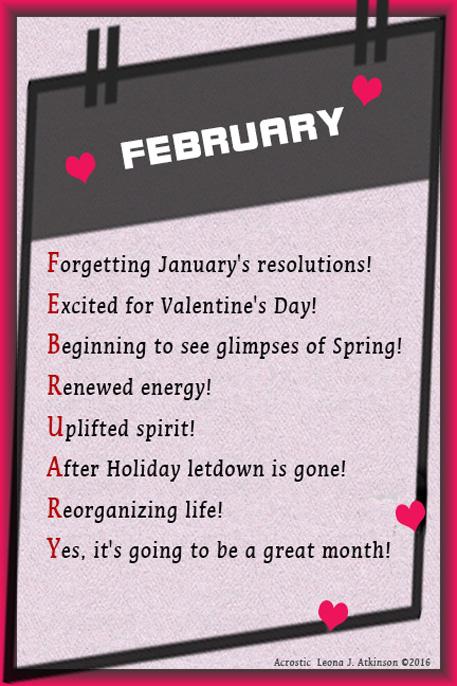 February Acrostic