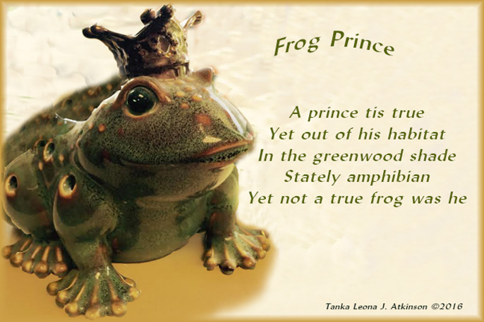 "Frog Prince--image and poem based on ""The Frog Prince by Brothers Grimm"" story/fairytale"