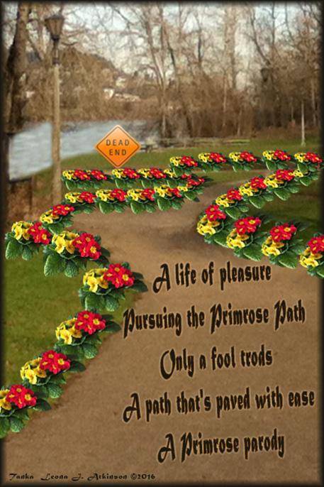 Primrose Path--Tanka poem