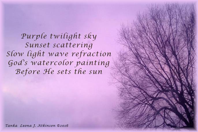 Purple Sky--Tanka poem