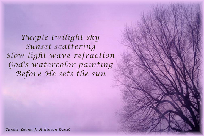 Purple Sky--Tanka poem