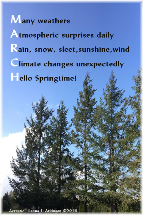 March Acrostic poem
