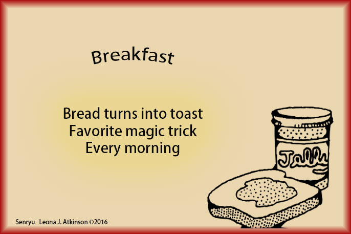 Senryu poem about breakfast