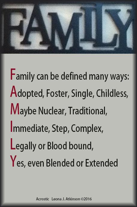 FAMILY Acrostic