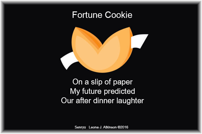 Senryu poem based on a fortune cookie