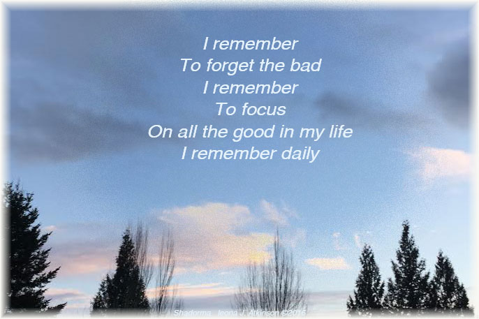 Shadorma poem about remembering