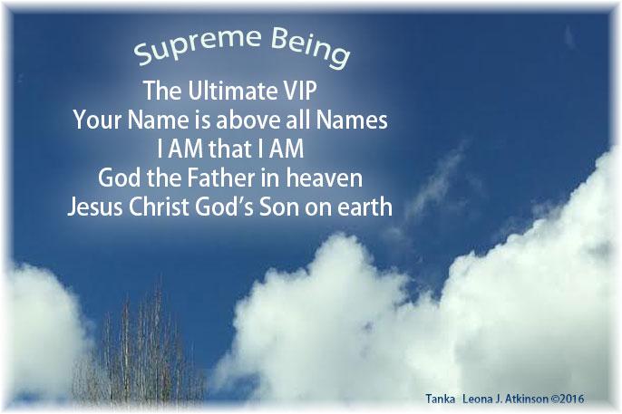 Supreme Being--Tanka poem